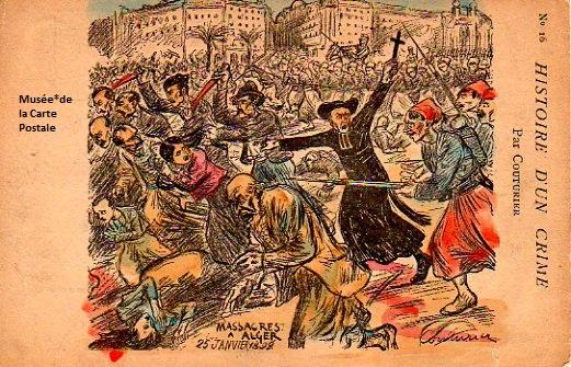 Carte postale de Couturier Eugène représentant l'affaire Dreyfus.