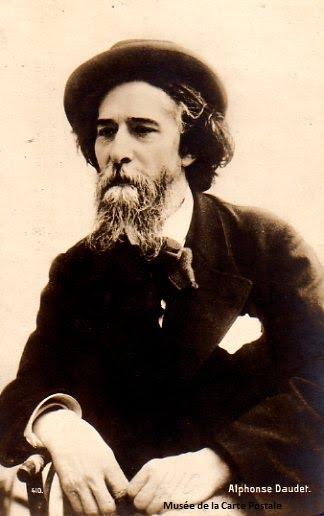 Carte postale représentant Alphonse Daudet.
