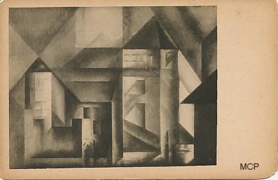 Carte postale de Feininger pour illustrer la valeur artistique des cartes postales.