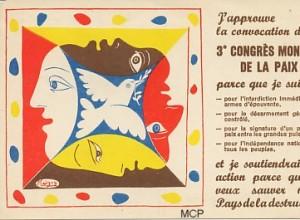 Carte postale de Picasso pour illustrer la valeur artistique des cartes postales.