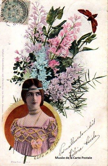 Carte postale représentant Cléo de Mérode.