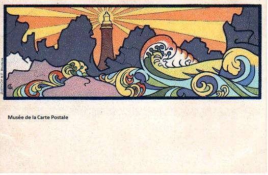 Carte postale de Gisbert Combaz (série Éléments) éditeur Dietrich.