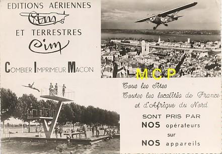 Carte postale publicitaire des éditions COMBIER vers 1960.