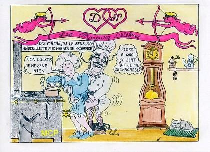 Carte postale contemporaine.