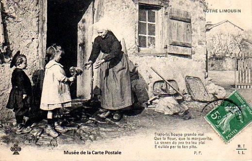 Carte postale ancienne du Limousin.