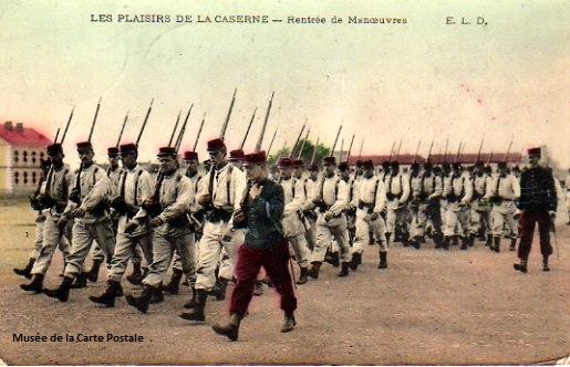 Carte postale militaire ancienne.