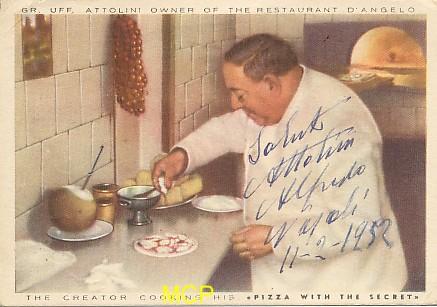 Carte postale de la période semi-moderne, représentant un chef italien.