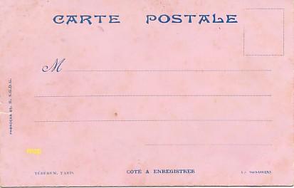 Le premier modèle de carte postale sonorine, côté enregistrement, exposé au musée de la carte postale, à Antibes.