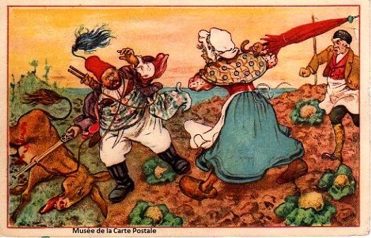 Carte postale représentant Tartarin de Tarascon.