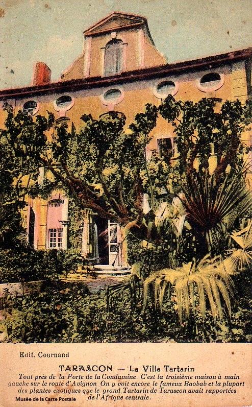 Carte postale représentant la villa Tartarin de Tarascon.