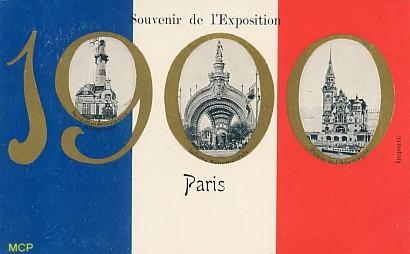 Symbole du temps qui passe, carte postale voeux de bonne année 1900, exposée au musée de la carte postale, à Antibes.