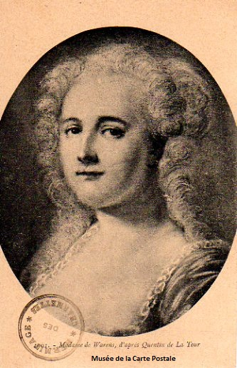 Carte postale ancienne représentant Madame de Warens.