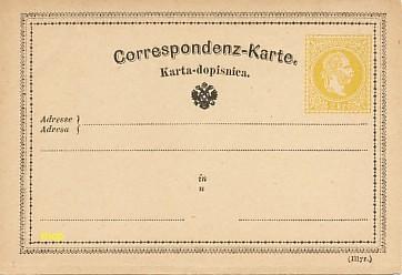 La première Carte Postale au monde, modèle en illyrien.