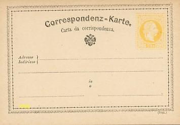 La première Carte Postale au monde, modèle en italien.