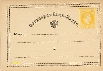 La première Carte Postale au monde, exposée au musée de la Carte Postale, à Antibes.