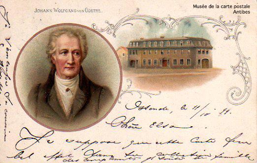 Carte postale représentant Goethe.