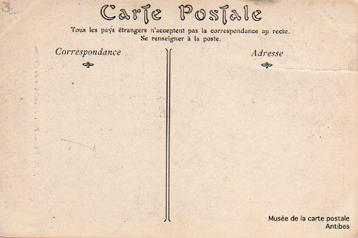 Recto d'une carte postale après la nouvelle réglementation de 1904.