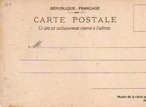 Recto d'une carte postale antérieur à 1904.