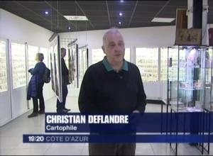 Extrait de la visite du musée de la Carte Postale, dans le journal de France 3 Cote d'Azur.