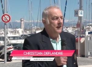 Extrait interview Christian Deflandre, créateur et animateur du Musée de la carte Postale, à Antibes, sur Azur TV.