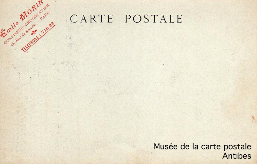 Carte postale d'avant 1904 car le dos ne comporte pas de séparation entre la correspondance et l'adresse.
