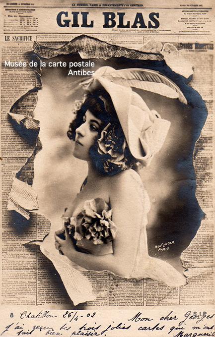 Carte postale ancienne représentant le journal Gil Blas.