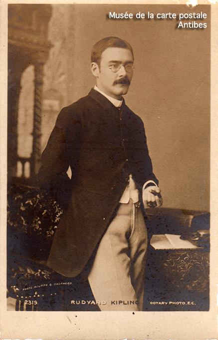 Carte postale ancienne représentant Rudyard Kipling.
