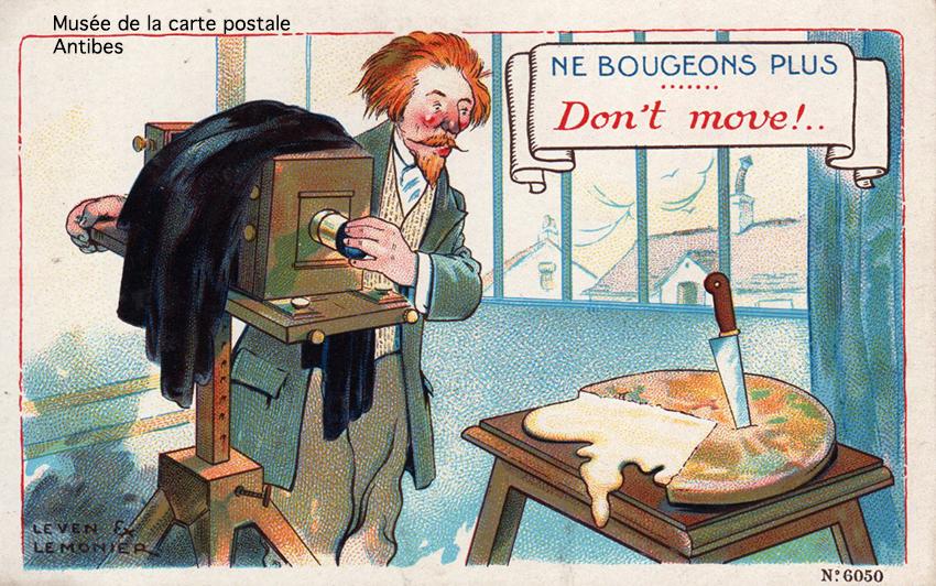 Carte postale dessin humoristique d'un photographe.