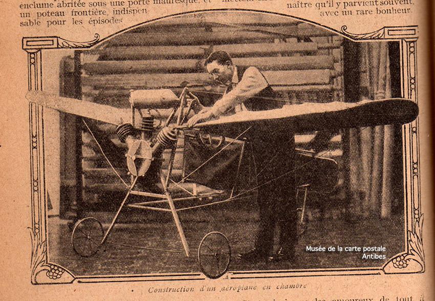 Construction d'un aéroplane en chambre.