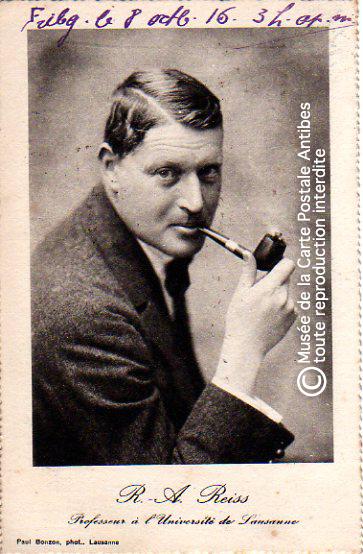Carte postale représentant Rodolphe Archibald REISS.
