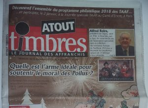 Une du journal Atout Timbres n°233.