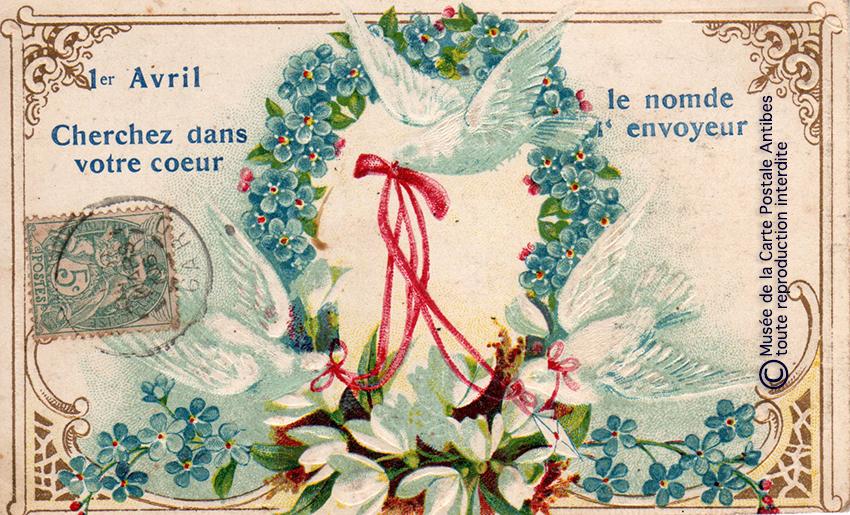 Carte postale de 1er Avril.