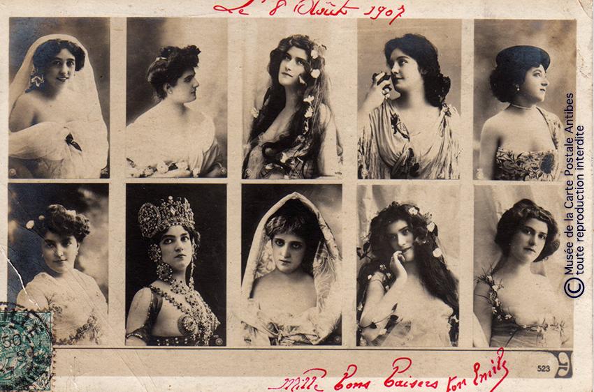 Carte postale mini catalogue des représentants des maisons d'éditions.