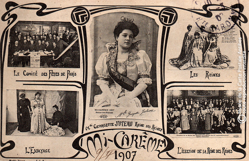 Carte Postale Reine des reines Georgette Juteau, Paris 1907.