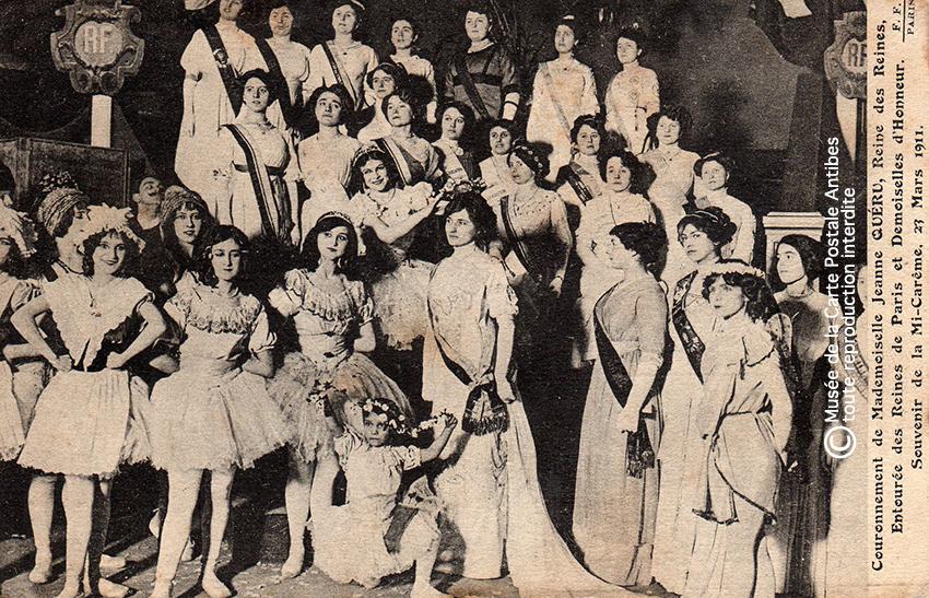Carte postale Reine des reines Jeanne Queru, Paris 1911.