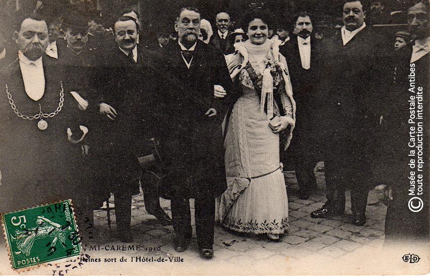 Carte postale Reine des reines, Paris 1910.