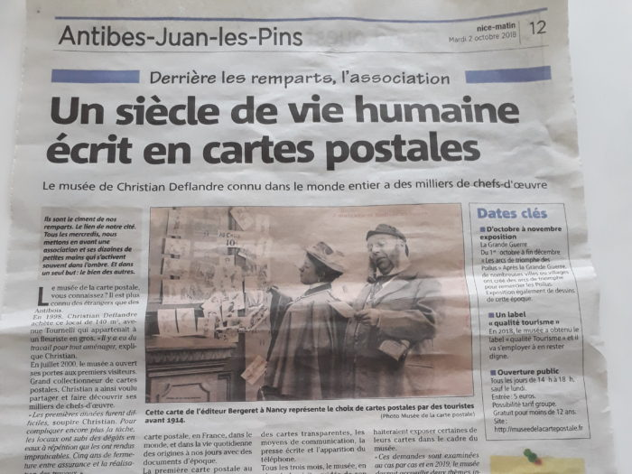 Article Nice Matin Du 02 10 2018