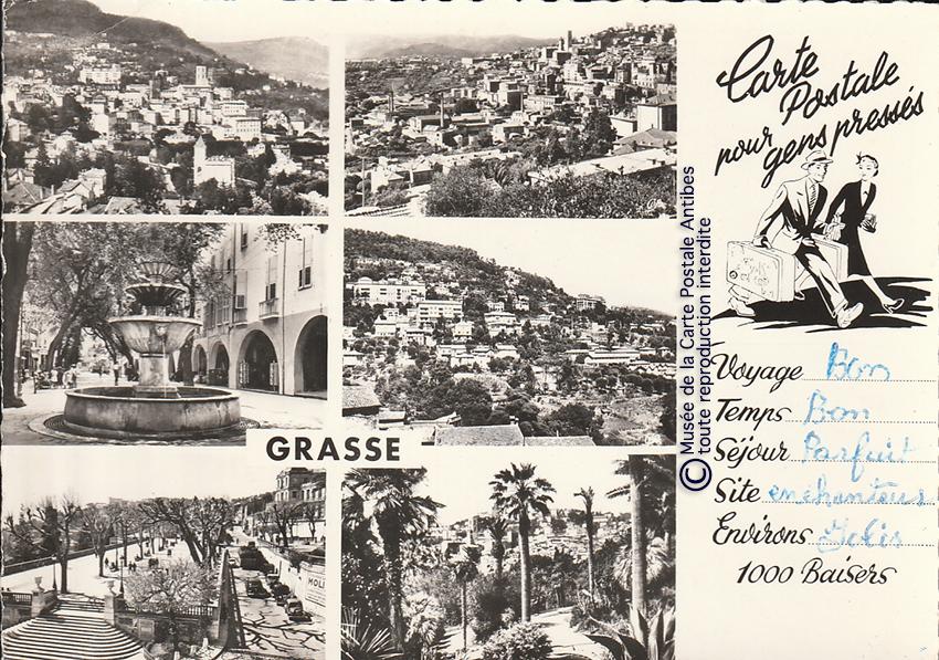 Carte postales pour gens pressés et paresseux de Grasse.
