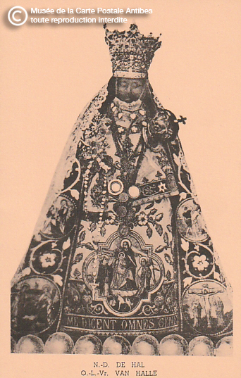 Carte postale représentant Notre-Dame de Hal.