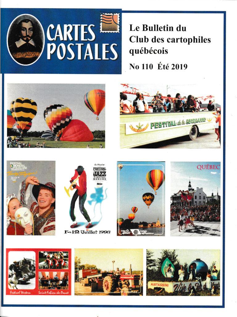 Bulletin du club des cartophiles quebequois n°110.